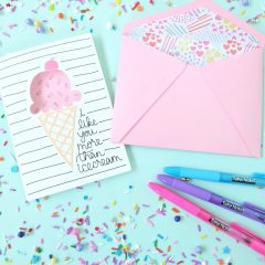 DIY Ice Cream Card Made Using The Cricut