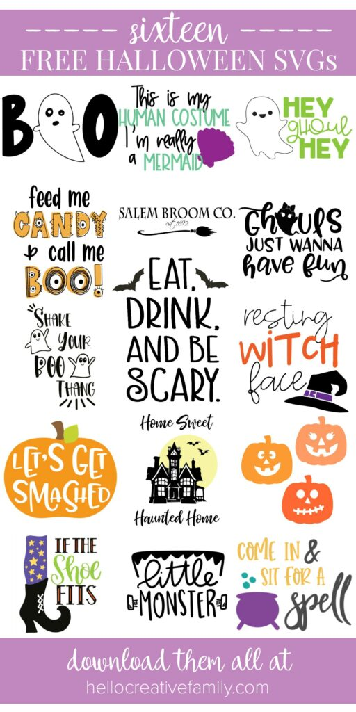 Take trick or treating and crafting for the spookiest day of the year to a whole new level with the cutest Halloween cut files around! We're sharing 14 free Halloween SVG Files that you can cut using your Cricut or Silhouette including our very own Shake Your Boo Thang cut file! #Halloween #SVGFile #CutFile #Cricut #Silhouette