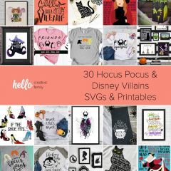 30 Hocus Pocus and Disney Villains SVGs and Printables