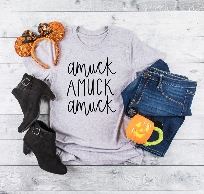 25 Hocus Pocus and Disney Villains SVGs and Printables: Amuck Amuck Amuck Hocus Pocus SVG File from DIY Vacation Shirts