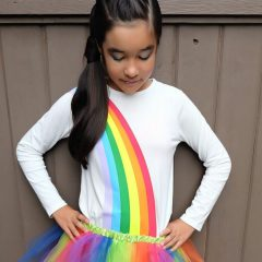 DIY Rainbow Halloween Costume Made Using The Cricut