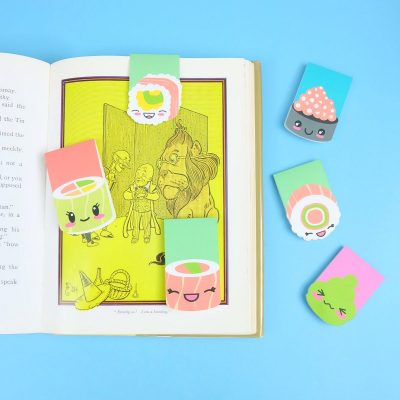 DIY Magnetic Kawaii Sushi Bookmarks