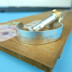 DIY Engraved Quote Bracelet- 10 Minute Cricut Project