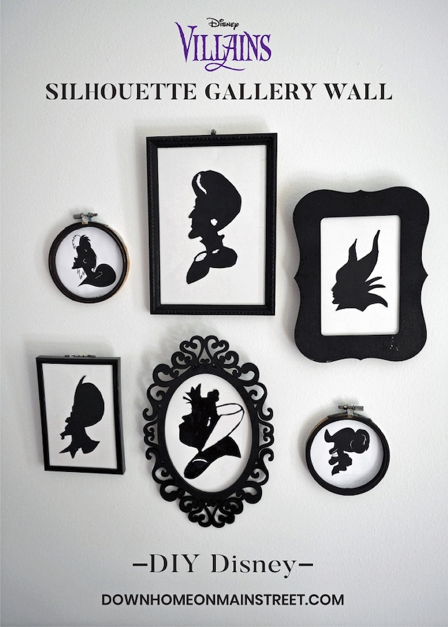 30 Hocus Pocus and Disney Villains SVGs and Printables: Disney Villains Silhouettes from Down Home On Mainstreet