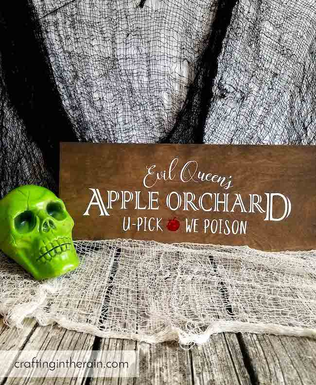 30 Hocus Pocus and Disney Villains SVGs and Printables: Evil Queen's Apple Orchard You Pick We Poison SVG from Crafting In The Rain