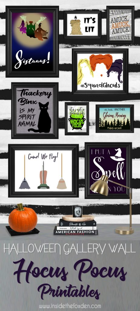 25 Hocus Pocus and Disney Villains SVGs and Printables: Hocus Pocus Gallery Wall printables from Inside The Fox Den