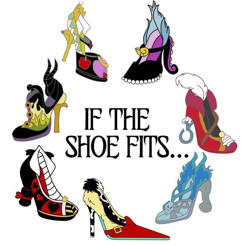 25 Hocus Pocus and Disney Villains SVGs and Printables: If the Shoe Fits Disney Villain Printable from Digital Wishes