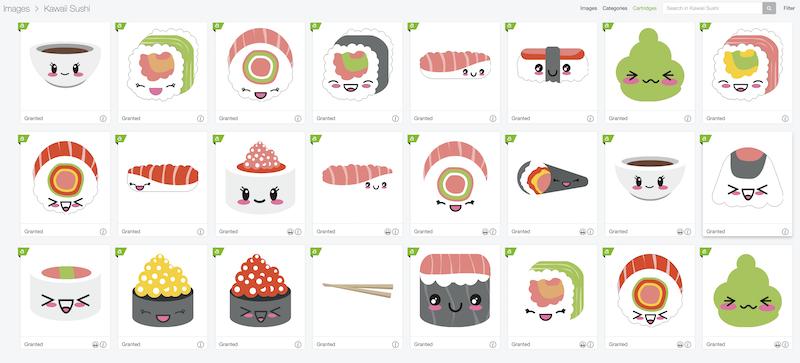 Kawaii Sushi Image Set from Cricut Access