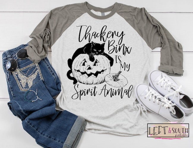 25 Hocus Pocus and Disney Villains SVGs and Printables: Thackery Binx Is My Spirit Animal PNG file from Left and South