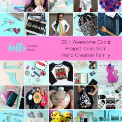Discover 30 fun and easy projects you can make with your Cricut Maker and Cricut Explore using materials like chipboard, balsa wood, htv, iron-on, paper, vinyl, leather and more! #CricutMade #CricutCreated #CricutCrafts #Sponsored