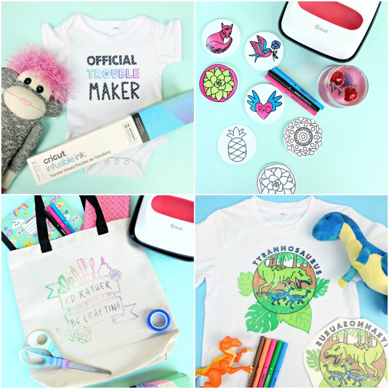 Discover 30 fun and easy projects you can make with your Cricut Maker and Cricut Explore using materials like chipboard, balsa wood, htv, iron-on, paper, vinyl and more! #CricutMade #CricutCreated #CricutCrafts #Sponsored