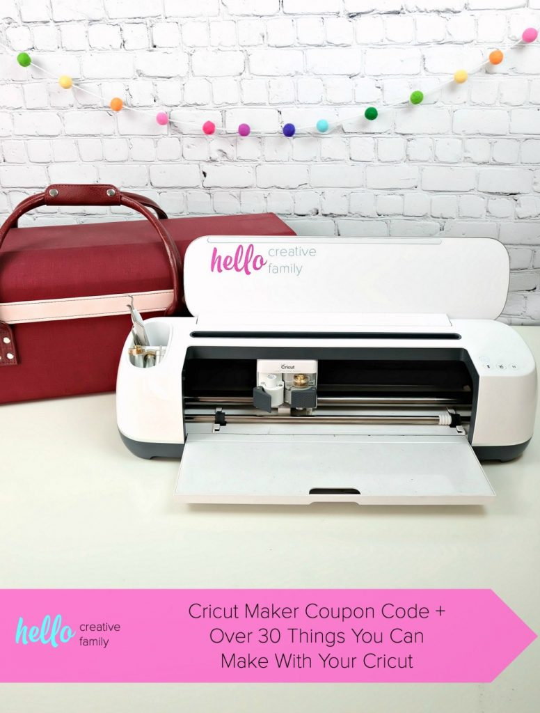 Save big with this Cricut Maker Coupon Code! Plus discover over 30 things that you can make with your Cricut from Hello Creative Family! #Sponsored #CricutMade #CricutCreated #Coupon