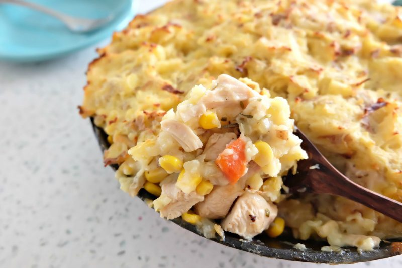 Filled with all the delectable flavors of Thanksgiving, our Leftover Turkey Shepherds Pie Recipe is going to become your FAVORITE thing to do with your Thanksgiving leftovers! Delicious enough for Sunday supper but easy enough for a family friendly weekday meal. #Thanksgiving #ThanksgivingLeftovers #Shepherds Pie #Recipe