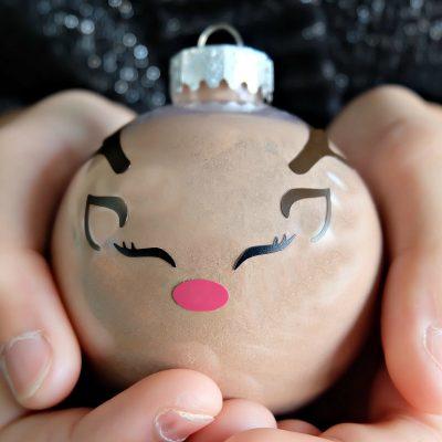 DIY Reindeer Hot Chocolate Ornament + Cricut Ornament Blog Hop