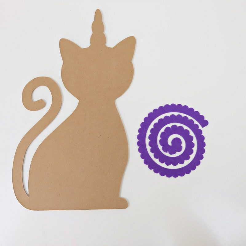 Step by step process for making a Caticorn Necklace Holder from Hello Creative Family.
