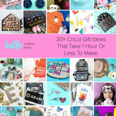 30+ Cricut Gift Ideas That Take 1 Hour Or Less To Make