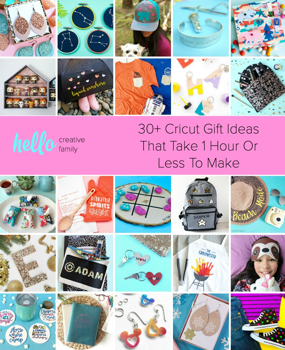 30 Cricut Gift Ideas That Take 1 Hour Or Less To Make