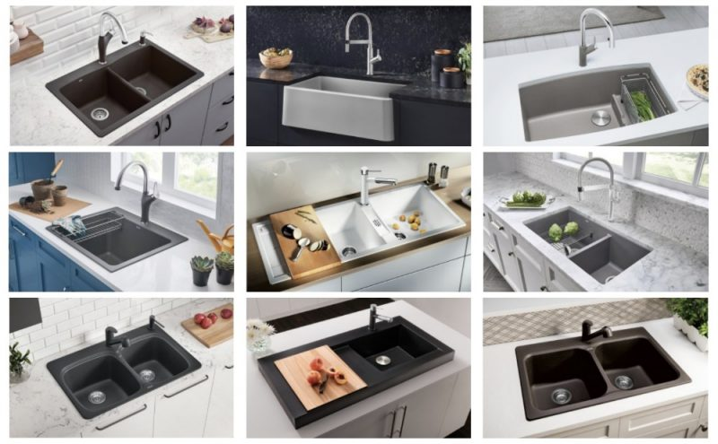 Blanco Silgranit Sink Options perfect for kitchen remodels. Durable, functional and beautiful. #sponsored #kitchen #sink