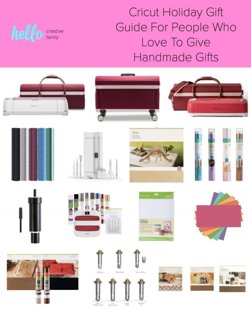 Stumped for what to get the crafty person who loves to give handmade gifts on your list? Our Cricut Holiday Gift Guide has ideas that are guaranteed to impress. We've got gift ideas for all the crafters in your life! #sponsored #CricutCreated #GiftGuide #Crafts