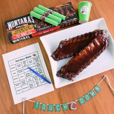 Free Football Printables + Montana's Ribs Giveaway