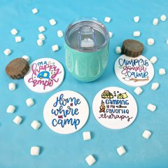 DIY Camping Gift Idea- Cricut Infusible Ink Coasters