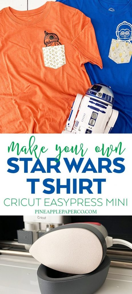 27 Cricut Gift Ideas That Take 1 Hour Or Less To Make: Pocket Star Wars Shirt from Pineapple Paper Co