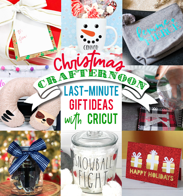 Looking for a last minute handmade gift idea? We're sharing 10 fun, quick and easy handmade Christmas gift ideas that you can make using your Cricut! #handmade #GiftIdea #Cricut #CricutCreated