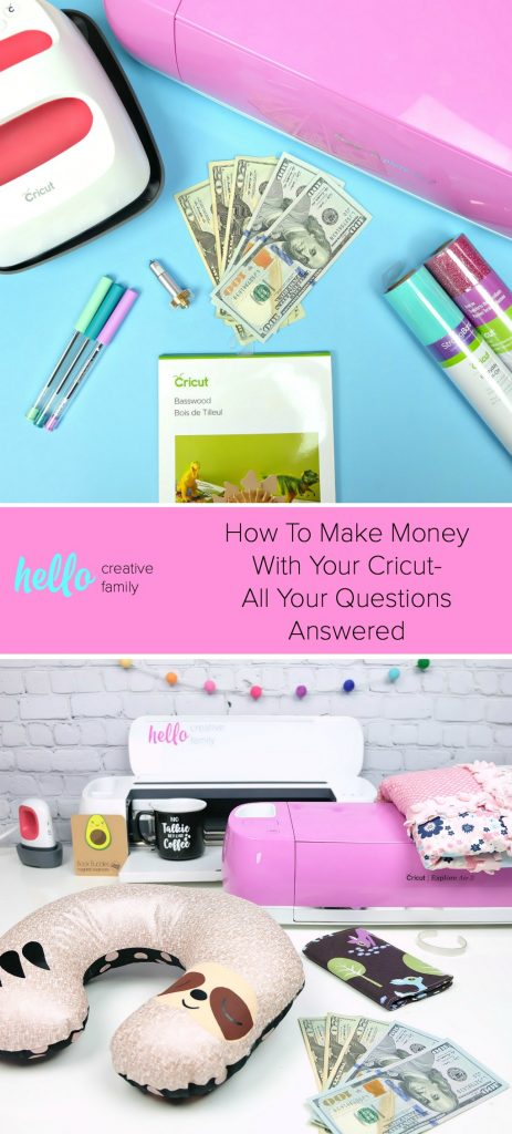 If you've ever wanted to learn how to make money with your Cricut then you need to read this! A Cricut expert shares where to sell Cricut crafts, how to price handmade projects, where to source cut files and ideas of the best things to sell! Read before setting up your Cricut business! #Sponsored #CricutCreated #CricutCrafts #Handmade #Cricut #CricutMade