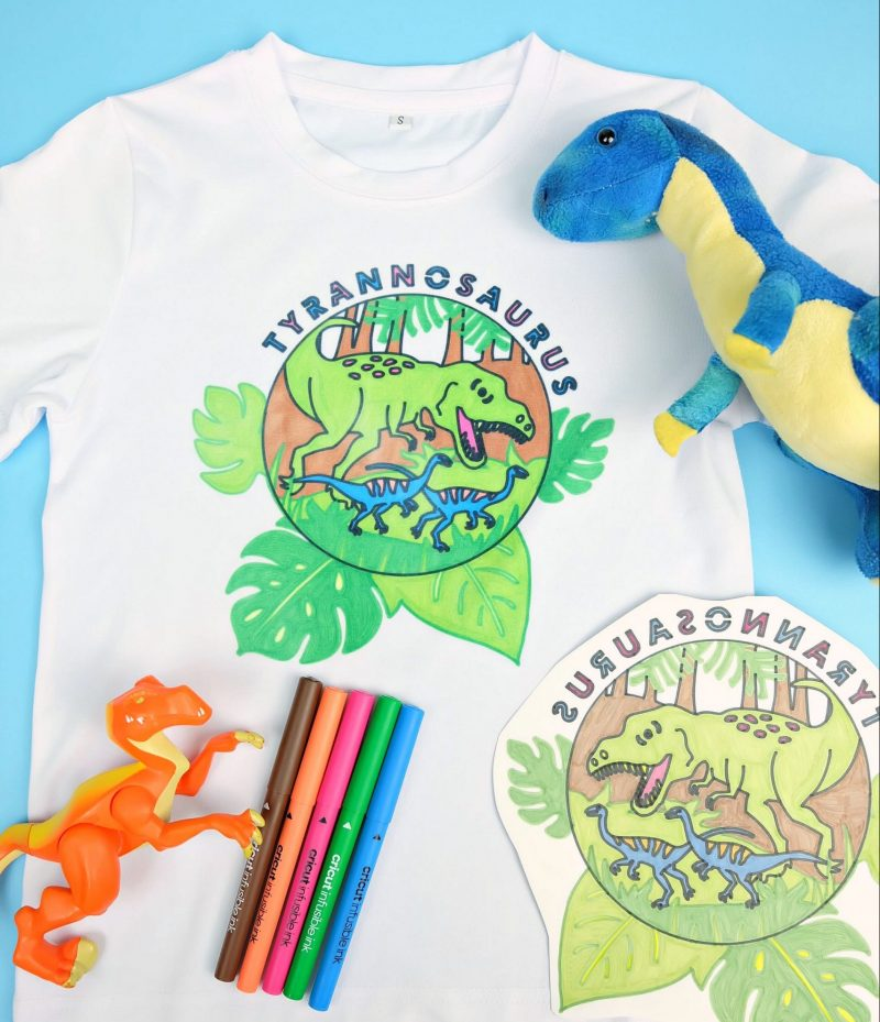 Turn A Drawing Into A Shirt Using Your Cricut and Cricut Infusible Ink!