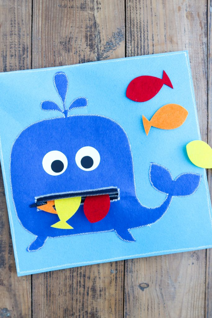 Make a busy book toddler activity page using your Cricut Maker.