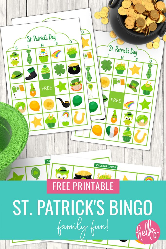 Let the St. Patty's Day fun begin with our free St. Patrick's Day Bingo printable! Perfect for classrooms, parties or fun with your kids! A fun St. Patrick's Day activity for family fun night!