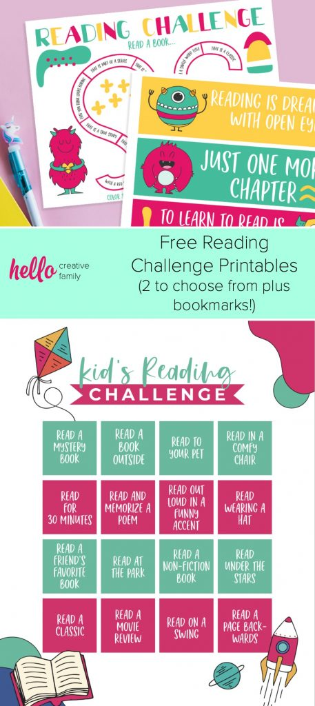 Keep kids entertained during break with our free reading challenge printable! Two design to choose from, one monster reading challenge that is perfect for kids, and one bingo style reading challenge printable that is perfect for teens and tweens. A great educational tool for all ages. #Printable #Quarantine #SpringBreak #Activities #KidsActivities #Printables