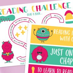 Free Reading Challenge Printable- 2 Designs To Choose From