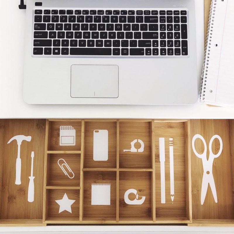 Cricut vinyl drawer organizers