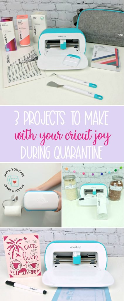 #cricutcreated #ad Craft EVERYWHERE with Cricut Joy! We're sharing 3 Cricut Joy Projects that are perfect for quarantine and can be made in different rooms of the house! Projects include pantry labels to get you organized, a DIY lion birthday card fit for the Tiger King himself and a toilet paper decal for the bathroom. Each project takes less than 15 minutes to make and are simple and easy Cricut projects! #CricutMade #CricutJoy #CricutCrafts #QuarantineCrafts #Crafts #EasyCrafts