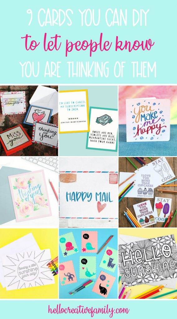 Sometimes it just takes a handmade card to brighten someone's day! Spread random acts of kindness with these adorable handmade card ideas from some of your favorite craft and DIY bloggers! #HandmadeCards #JustBecause #PaperCrafts #CardMaking #DIY #Crafts