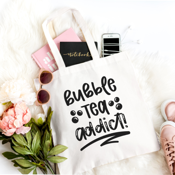 Download 4 Bubble Tea SVG files to make boba themed shirts, reusable cups, tote bags and more! Use your Cricut or Silhouette to cut these Boba Cut Files.