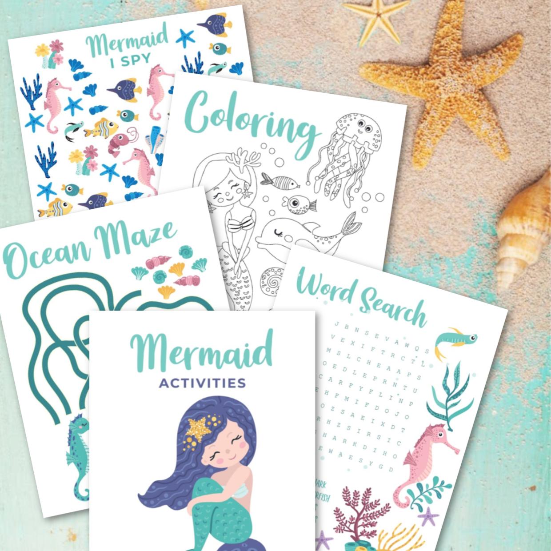 Mermaid Activities Free Printabledownload Hello Creative Family