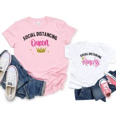 DIY Social Distancing Queen and Princess Shirts