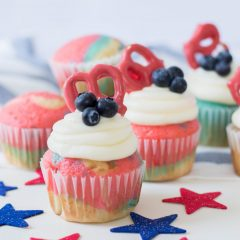 Patriotic Cupcakes Recipe- Perfect For Fourth Of July
