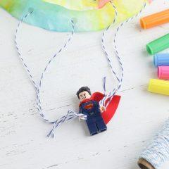 Lego Craft- DIY Lego Superhero Parachutes