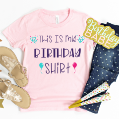 Free Birthday SVG Files Including This Is My Birthday Shirt