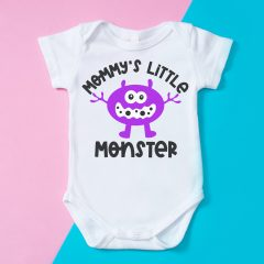 15 Free Baby SVG Files Including Mommy's Little Monster