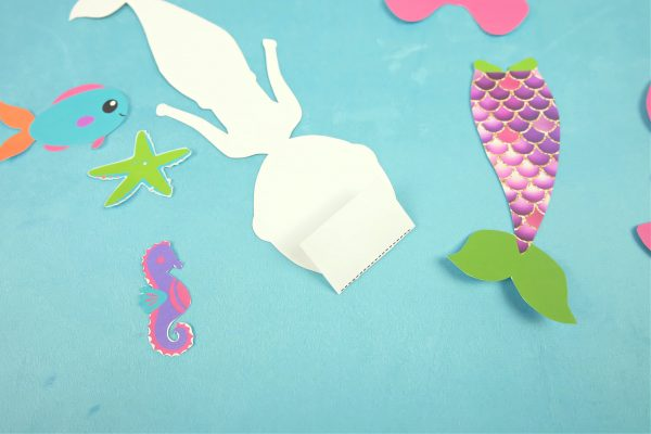 Sparkle Mermaid Bookmark Craft With Free Printable Step 2