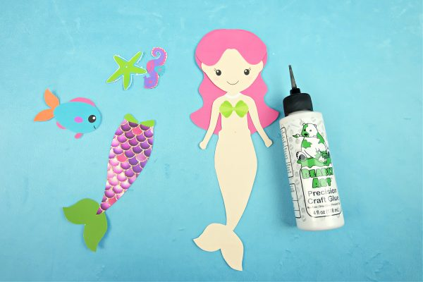 Sparkle Mermaid Bookmark Craft With Free Printable Step 4