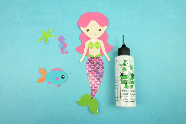 Sparkle Mermaid Bookmark Craft With Free Printable Step 5