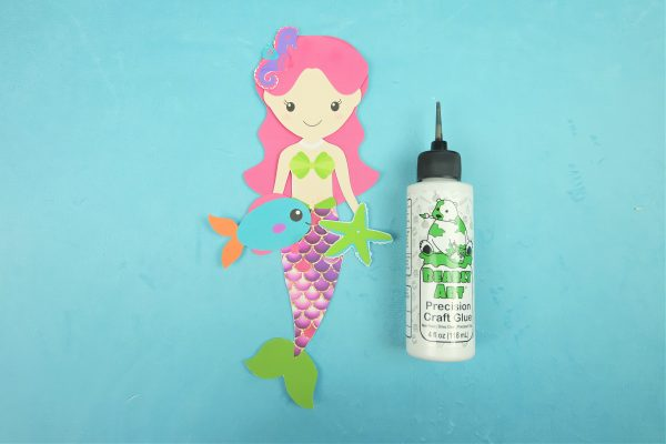 Sparkle Mermaid Bookmark Craft With Free Printable Step 6