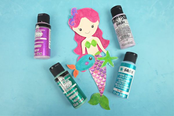 Sparkle Mermaid Bookmark Craft With Free Printable Step 7