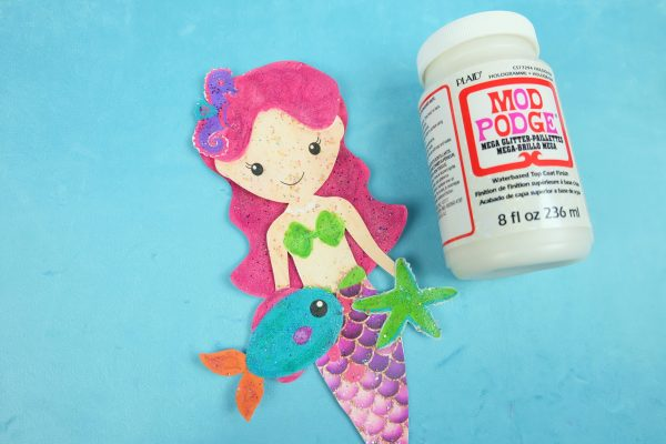 Sparkle Mermaid Bookmark Craft With Free Printable Step 8