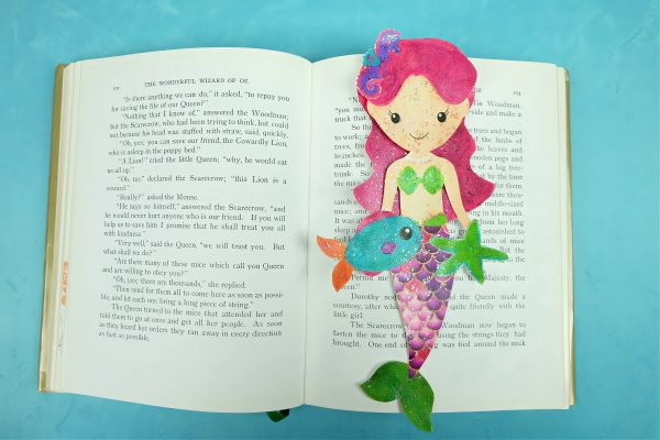 Sparkle Mermaid Bookmark Craft With Free Printable